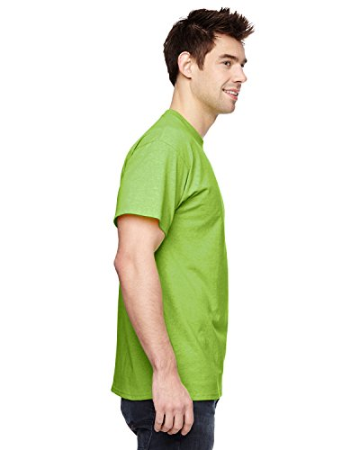 Fruit of the Loom s Men'Short Sleeve Crew Tee Grün - Neon green