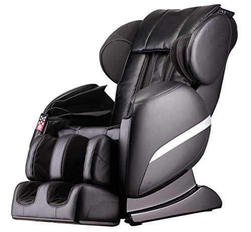 Luxus Massagesessel Shiatsu F3000 Zero Gravity Leder schwarz mit Rollentechnik Massage + Heizung +...