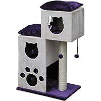 Nobby Aran Arbre à chat Tronc en sisal de 9cm de diamètre Violet/beige 60 x 40cm