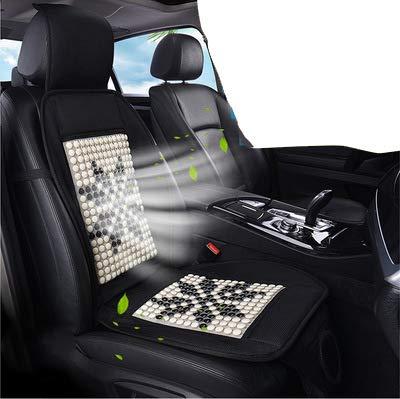 ZJWZ Auto-Sitzkissen Sommer kühlen Wind 12v Auto Elektroventilator und Massage 12V Car Cooling Seat Kissen Covers Speed Control Chair Fan-schwarz,Black (Massage Seat Cover Car)