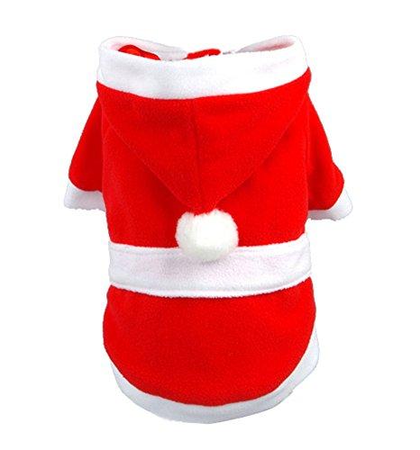 (Gwood Neue Herbst/Winter-Tier-Kostüm Hund-Pullover Marine Bow-Haustier-Pullover Sweaters für VIP Bichon Pommerschen Chihuahua Dog (Weihnachten-Kleidung, L))