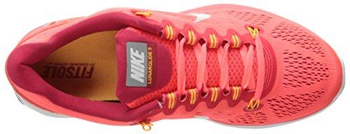 Nike Lunarglide + 5, Scarpe Da Corsa Da Donna Rosse / Bianche