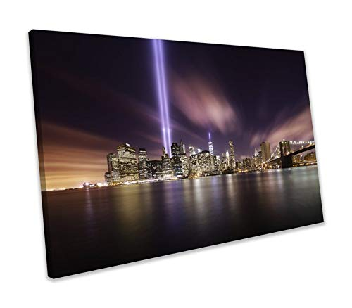chuanghe3943 Unframe Canvas Printing The Tribute In Light Brooklyn Bridge New York Skyline Picture Canvas Print Bedroom Bathroom Decoration Wall Art -