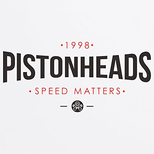 PistonHeads Speed Matters Curved T-Shirt, Herren Wei