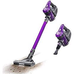 Housmile Aspirador sin Cable 7500Pa,Aspirador Escoba 2 en 1 con 2 Modos de Limpieza,Depósito 0.6L-Gris y Violeta