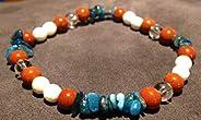 Dimagrante Bracciale dieta Litho naturale pietra Jasper rosso magnesite bianco cristallo blu apatite roccia