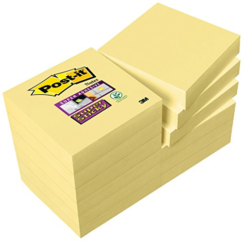Post-it Notes Super Sticky 47,6 x 47,6 mm - Pack de 9+3