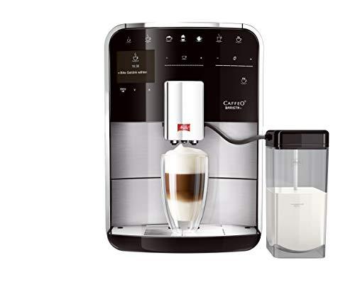 Melitta 217373 Caffeo Barista T F 740-200, Kaffeevollautomat fürs Büro, Touch Funktion, Edelstahl, Kunststoff, 1.8 liters, schwarz