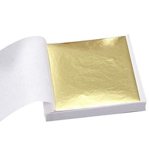Fogli di foglia d'oro imitazione di lamina d'oro per l'artigianato d'arte decorazione doratura cornici per l'artigianato