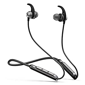 Boult Audio ProBass SpireX Neckband in-Ear Wireless Bluetooth Earphones with Mic IPX5 Sweatproof Deep Bass Headphones with Long Battery Life Flexible Headset (Black)