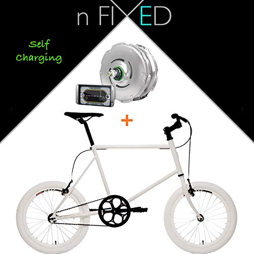London Fixed Gear Zehus e-bike + Shadow Smart elettrica Pedelec bicicletta, 52
