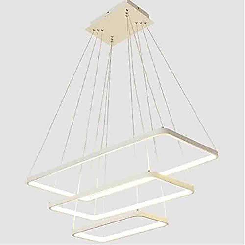 Zhang Ying ZY * Linear Pendelleuchte Umgebungslicht - Glühlampe enthalten, einstellbar, dimmbar, 110-120V / 220-240V, warmweiß/weiß, LED-Licht, Weiß, Warmweiß