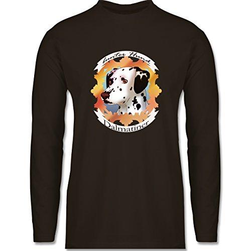 Shirtracer Hunde - Dalmatiner - Bunter Hund - Herren Langarmshirt Braun