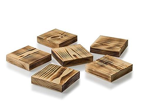 Dessous de verre en bois faite à la main en Angleterre pour protéger vos meubles des taches et boissons chaudes. complète votre Table basse ou d'ajouter une touche d'Élégance à n'importe quel Meuble. Convient pour boissons chaudes ou froides. sont livrés dans un Lot de 6dans une boîte cadeau