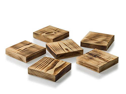 Sottobicchieri in legno fatta a mano in Inghilterra per proteggere i mobili da macchie e bevande calde. Integra il tavolino o per aggiungere un tocco di stile a qualsiasi mobili. Adatto per bevande calde o fredde. Come in un set di 6in una confezione regalo