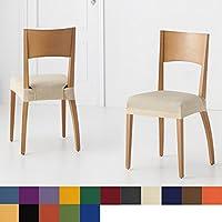 Pack de 6 unidades de Fundas de Asiento para Silla Modelo Libia, Color Gris, Medida Asiento 45-55cm