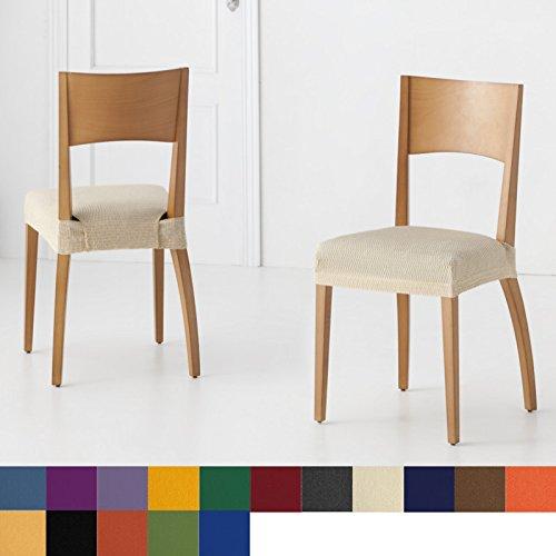 Pack de 6 unidades de Fundas de Asiento para Silla Modelo Libia, Color Naranja, Medida Asiento 45-55cm