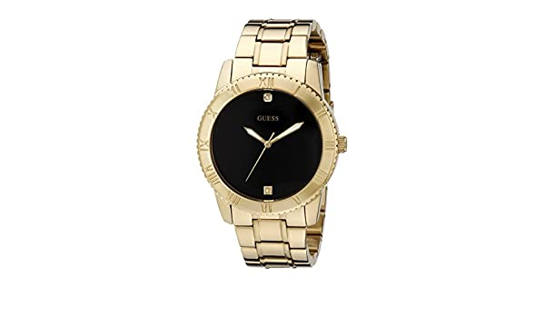 Stainless U0416g2 Guess Men's Gold Steel With Tone Watch Black hdQrtCs