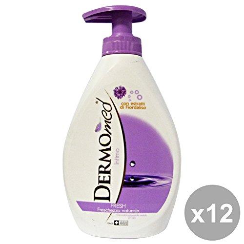 dermomed Lot de 12 savon intime Fresh 300 ml. Les savons et cosmétiques
