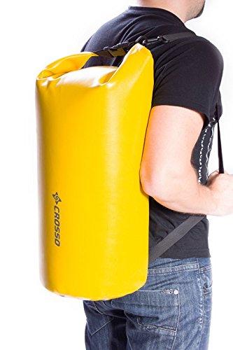 CROSSO® DRY BAG (30L, 40L, 50L, 60L - Wasserdichter Packsack Schultergurt Bodengurt) Black