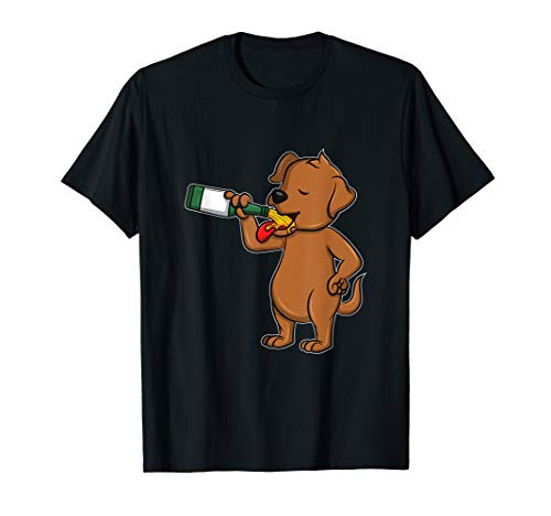 Lustiges Bier Tag Hund Shirt I Alkohol Trinken Party Wein - Lustig, Party, Trinken, T-shirt