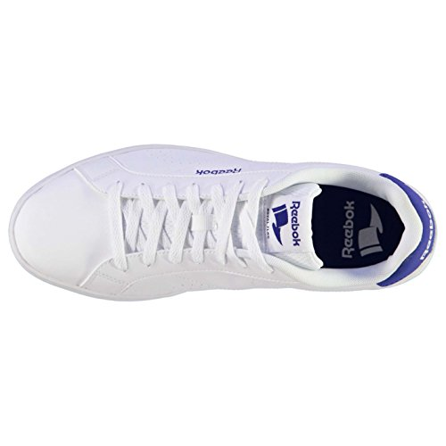 Reebok Complete Leather Homme Chaussures Baskets À Lacets Sneakers Sport Casual Blanc/Royal