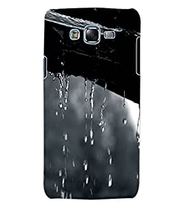 ColourCraft Lovely Rain Falling Design Back Case Cover for SAMSUNG GALAXY J7
