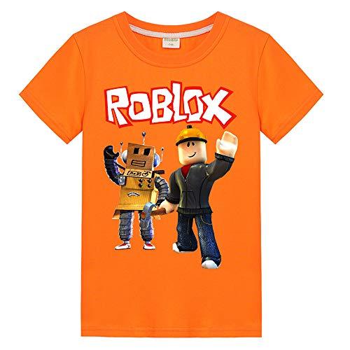 6d003e87acff Roblox Camiseta Cuello Redondo Casual Top Fashion Impreso Camiseta Cómoda  algodón Puro Manga Corta niños y