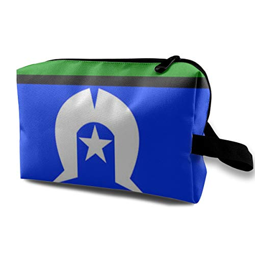 Makeup Bag Portable Travel Cosmetic Bag Torres Strait Island Flag Mini Makeup Pouch for Women Girls