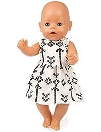 f4e65aa20b Vestido Estampado Verano Manga Corta Falda +Bragas para 18 Pulgadas muñeca  Americana Accesorio de Juguete