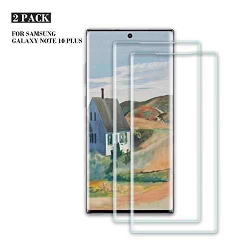 ZOLMAG Galaxy Note 10 Plus Verre Trempé, [Lot de 2] [compatible lecteur d'empreinte] 9H Dureté HD Film Protection écran, Ultra Résistant, Anti-Rayures, sans Bulles d'air, pour Galaxy Note 10 Plus