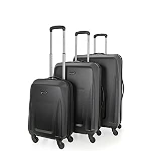 5 Cities Valise noir noir Lot de 3