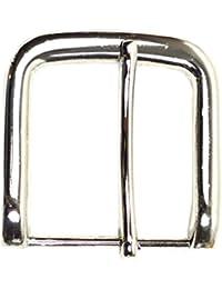 Einfache Gürtelschnalle silbern Buckle 40 mm Metall Dornschließe für Gürtel mit 4 cm Breite M 7