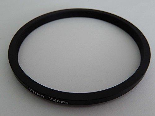 vhbw Step Down Adapter Ring Filteradapter 77mm-72mm schwarz für Kamera Agfa, Agfaphoto, Canon, Casio, Fujifilm, Kodak, Minolta, Nikon, Olympus