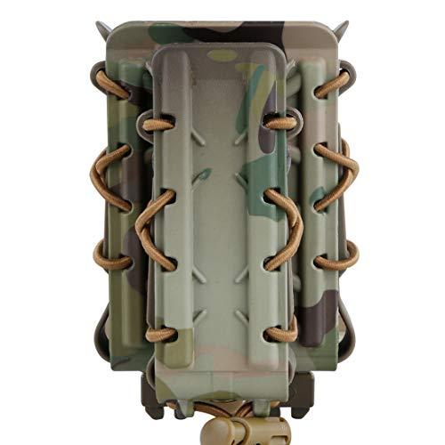 GODNECE Porte Chargeur Molle Tactique, Double Fast Mag Pouch Flexible Mag Pouch 9MM 5.56 7.62 45ACP -