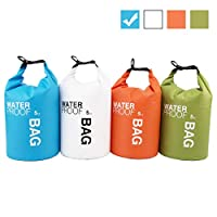 Uncle Paul Boat Dry Bags - Blue 5L Waterproof Bag For Drifting Boating Kayaking Fishing Rafting Swimming Camping Canoeing Surfing 5 Litres