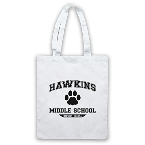 Inspire par Stranger Things Hawkins Middle School Paw Logo Officieux Sac d'emballage