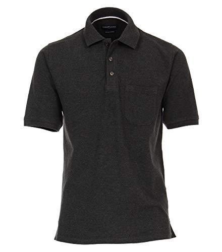 CASAMODA Herren Polo-Shirt unifarben 004370 Brusttasche -