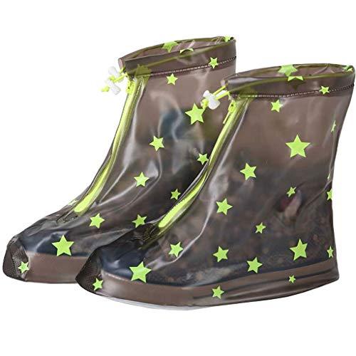ZJOUJ Regenstiefel- Kinder Outdoor Wandern wasserdichte Regenstiefel, Studenten dicke verschleißfeste Männer und Frauen Regen Stiefel Set Nicht Einweg (Farbe : Gray, größe : M) (Stiefel Jungen Regen Spiderman)