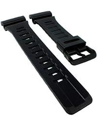 9edb53397bf8 Casio - Correa de Repuesto para Reloj de Pulsera de Resina Negra para  Collection AQ-