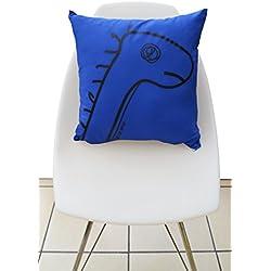 Cojin de dinosaurio azul