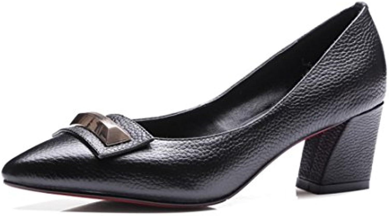 Sandalette-DEDE Calzado de Señora, Zapatos en Bruto y Recto, Europeos y Americanos Duro Retro Zapatos de Mujer...