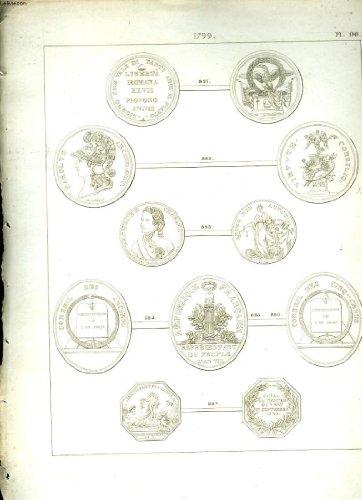 Histoire numismatique de la révolution française. planche n°90 : 1799