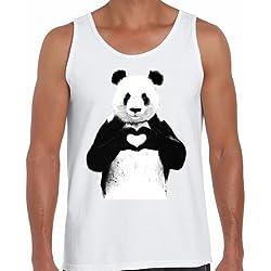 Positivos Camisetas Tirantes Camiseta Tirantes - Oso Love - L