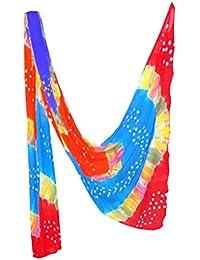 Fashion Store Women's Chiffon Jaipuri Bandhej Dupatta Stole,chunni (Multicolor, Free Size,) - B077TPQ9R7