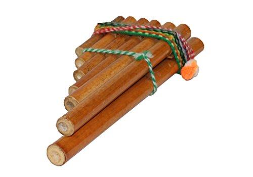 Sunny Times - Neu Panflöte Zampoña aus Peru mit 13 Rohren Musikinstrument Kinder Holzspielzeug