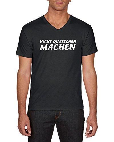 Touchlines Nicht Quatschen Machen, T-Shirt Uomo Schwarz (Black 13)
