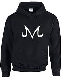 Majin Buu Corrupted symbol, Anime, Dragonball Z inspiré Imprimé Sweat à capuche