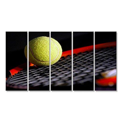 Cuadro Cuadros Equipo de tenis - pelota y la raqueta Impresión sobre lienzo - Formato Grande - Cuadros modernos