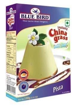Blue Bird China Grass Milk Jelly Pista 100GM (Pack Of 3)